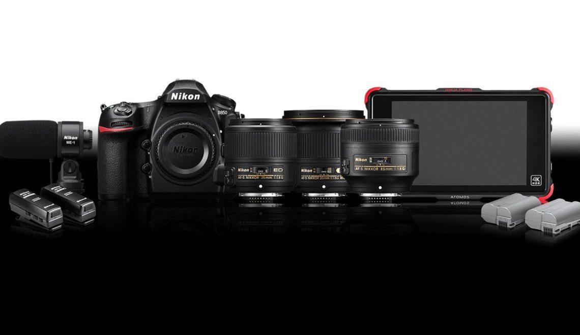 ערכה לצלמי וידאו המשתמשים ב-D850 של ניקון