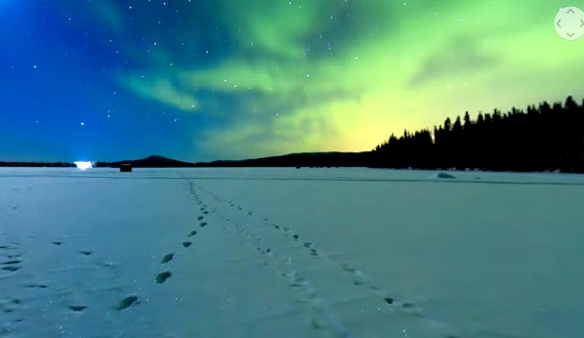 סרט מקטעים – אורות הקוטב ב8k וב360 מעלות