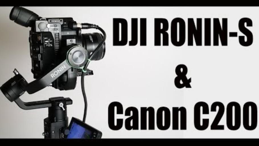 המייצב Ronin S עם מצלמת קנון C200