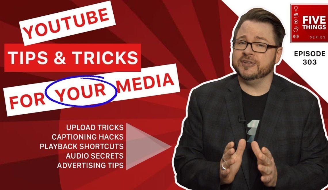 חמישה נושאים לעבודה עם יוטיוב