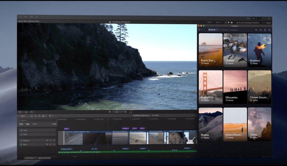 תמיכה מלאה בין מערכת האישורים Frame.io ל-FCPx