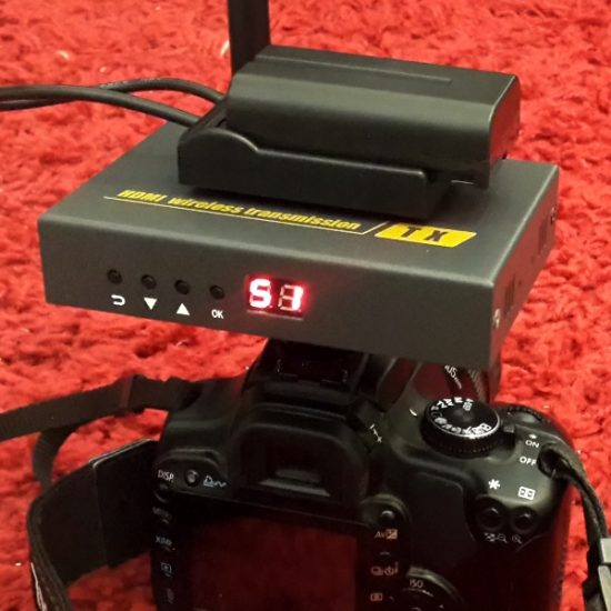 משדר וידאו אלחוטי FULL HDMI מקצועי למצלמת וידאו
