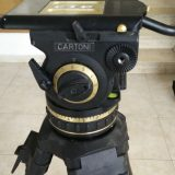 Cartoni G100 Gamma ENG Fluid Head (100mm Ball Base)with 1 Stage Aluminium Tripod, Mid-Level Spreader